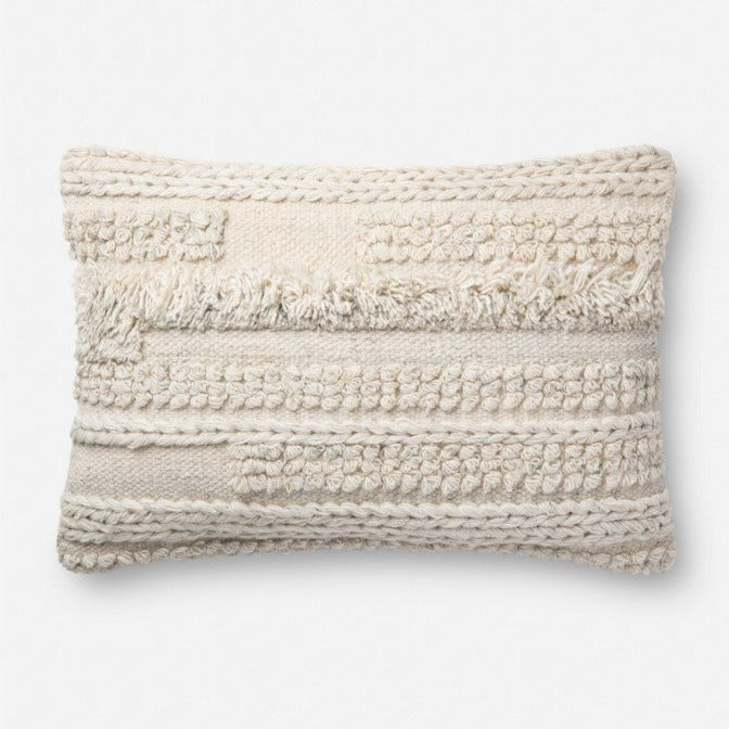 "ED Ivory Pillow - P4083 - 16"" x 26"""