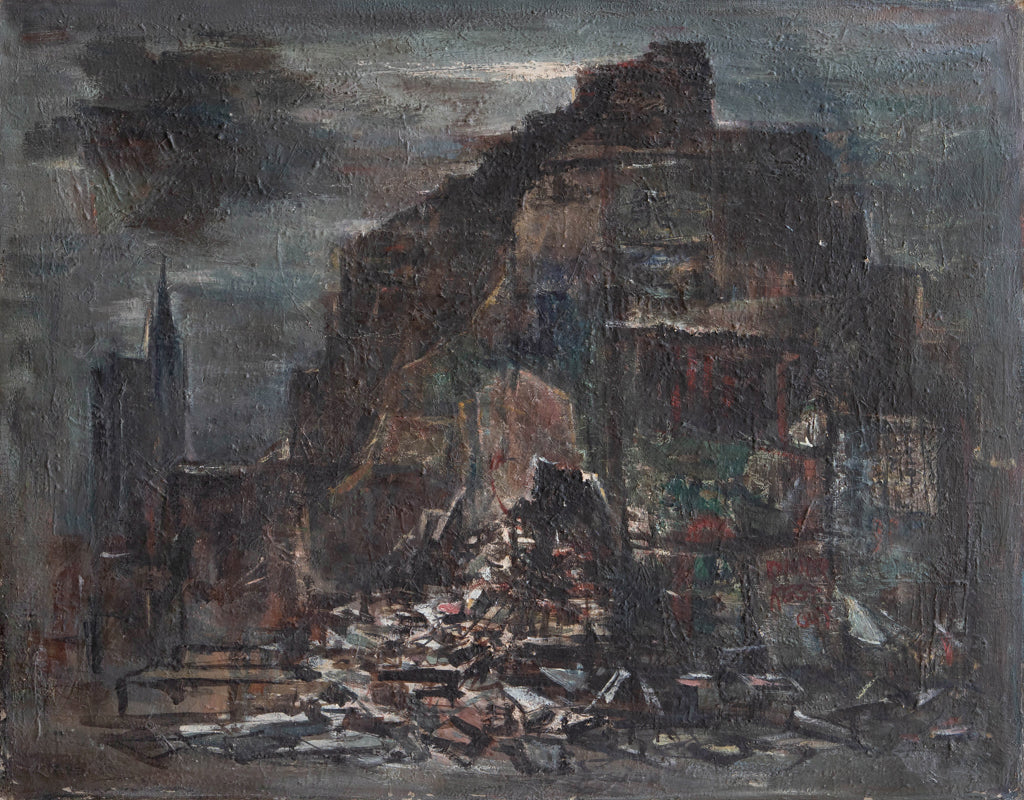 "Paul Horiuchi ""Demolition near Broadway"" - C. 1958"