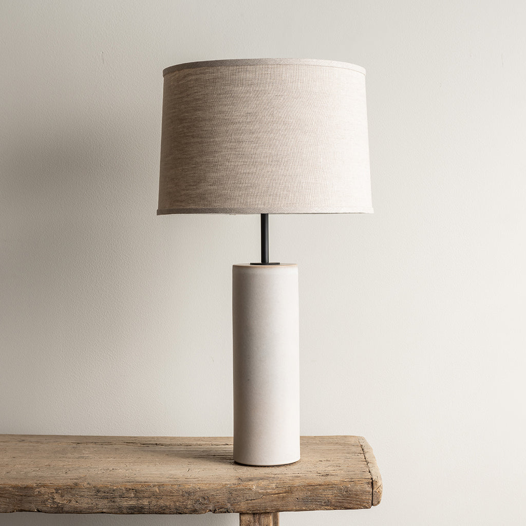Stone and Sawyer Hancock Lamp - Fossil Gray