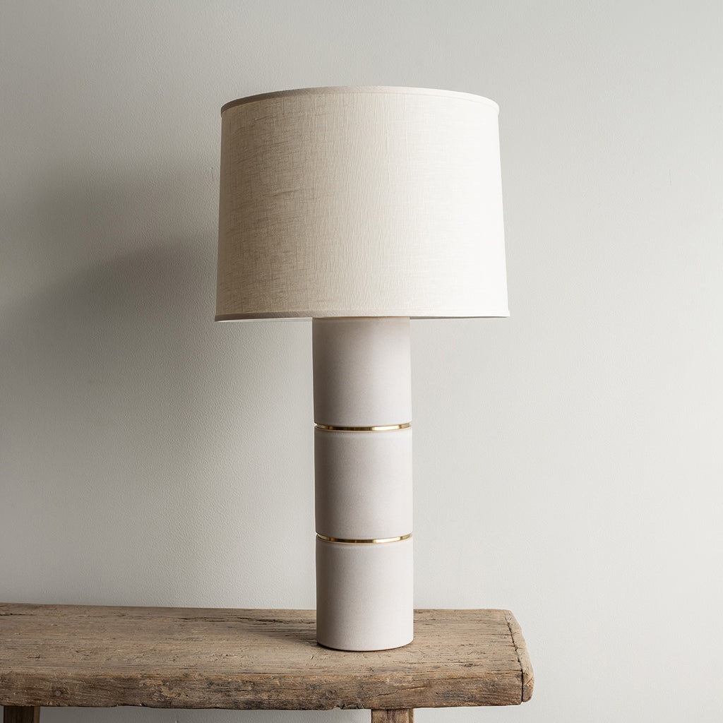 Stone and Sawyer Parker Lamp - Fossil Gray