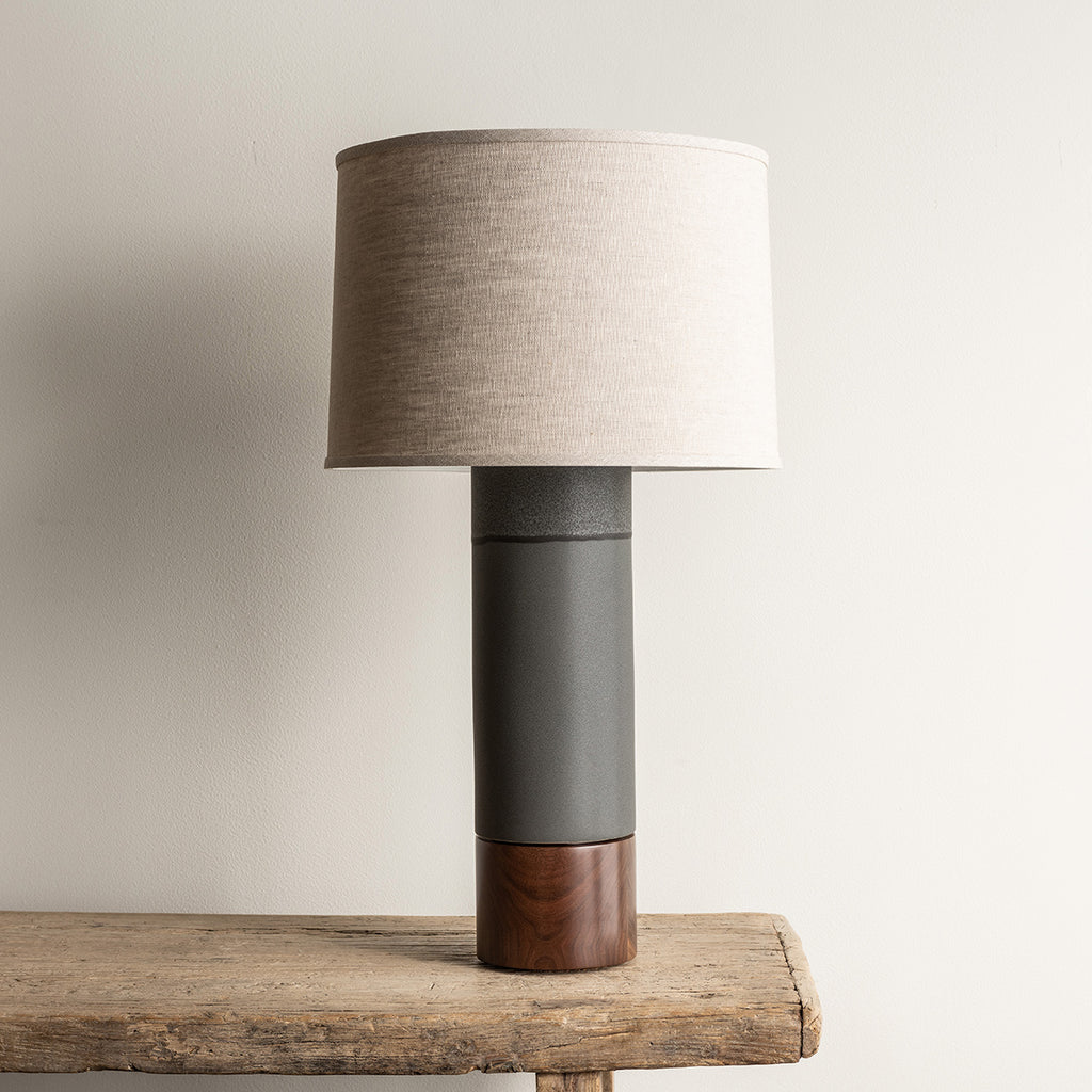 Stone and Sawyer Tall Baxter Lamp - Charcoal