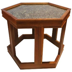 Hexagon End Tables - Pair