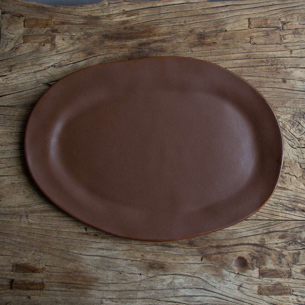 "Alex Marshall 19"" Large Oval Platter - Coffee"