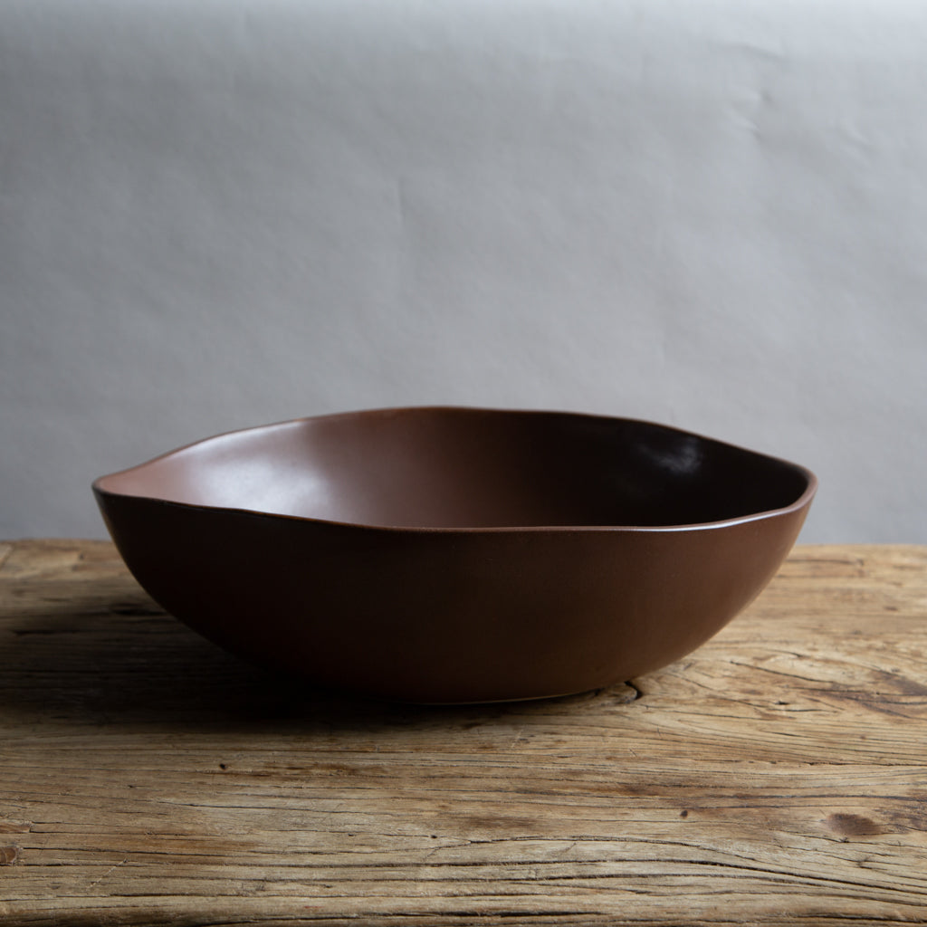 "Alex Marshall 15"" Round Bowl - Coffee"