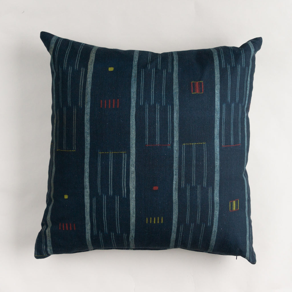 Blue Lines Pillow - 26""