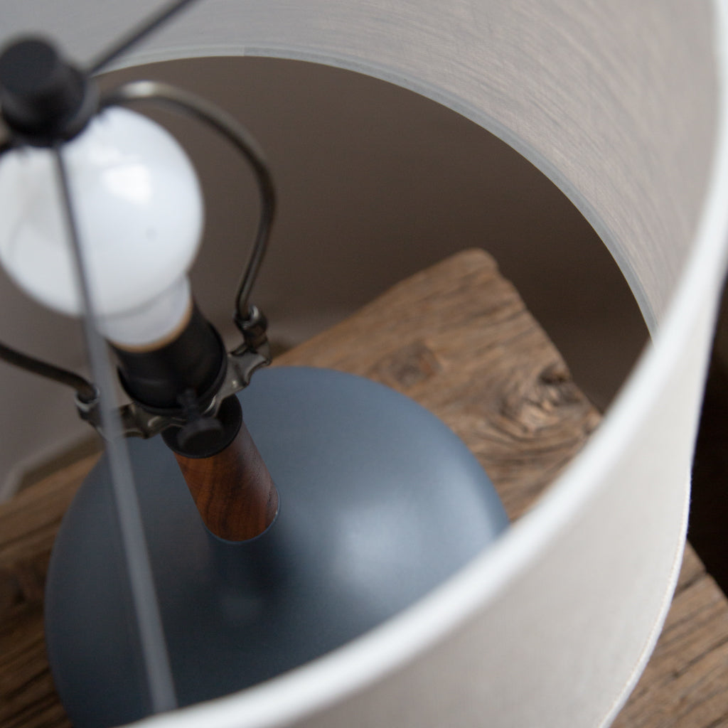 Stone and Sawyer Hilo lamp in deep lake glaze