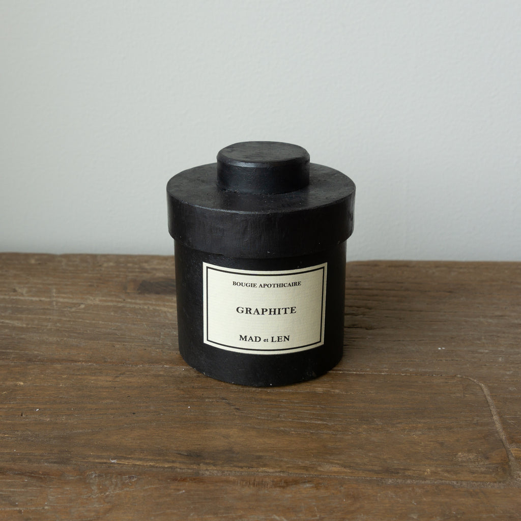 Mad et Len Small Apothicaire Candle - Graphite
