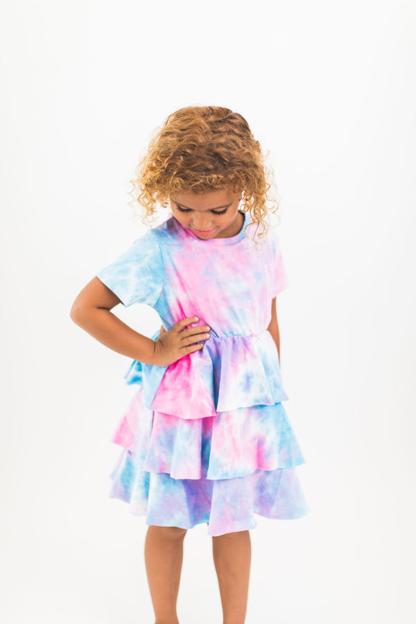 Tye Dye Tiered Dress