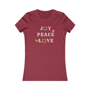 Joy. Peace. Love. Women's Tee