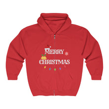 Load image into Gallery viewer, Merry Christmas/Believe Full Zip Hooded Sweatshirt