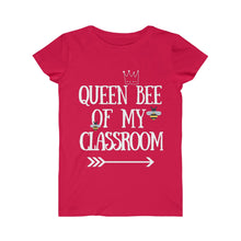 Load image into Gallery viewer, Queen Bee Of My Classroom Jersey Tee