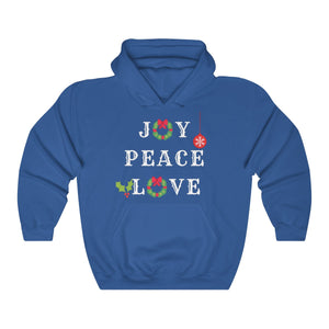 Joy. Peace. Love. Hooded Sweatshirt