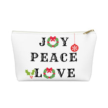 Load image into Gallery viewer, Joy Peace Love Pouch w T-bottom