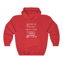 Load image into Gallery viewer, I Make A Difference Hooded Sweatshirt