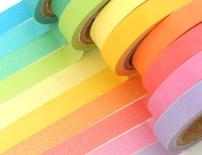 10 Psc Candy Color Decorative Adhesive Tapes 6