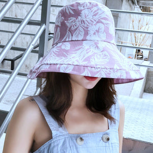 Double Sided Maple Leaves Bucket Hats