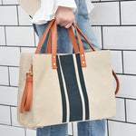 Matching Weaving Big Handbag