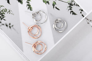 Round Hoop Earrings