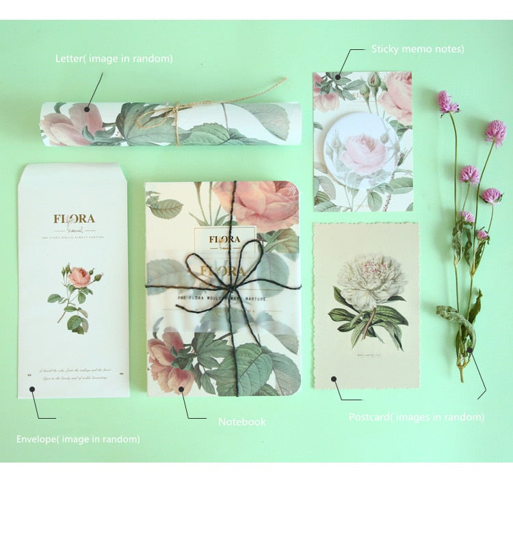 Vintage Flora A5 A6 Kawaii Notebook