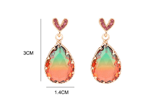 Colorful Heart Shape Earrings