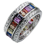 Gemstone Rings 925 Sterling Multicolor Ring
