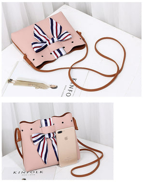 Cute Bucket Leather Shoulder Sling Bags