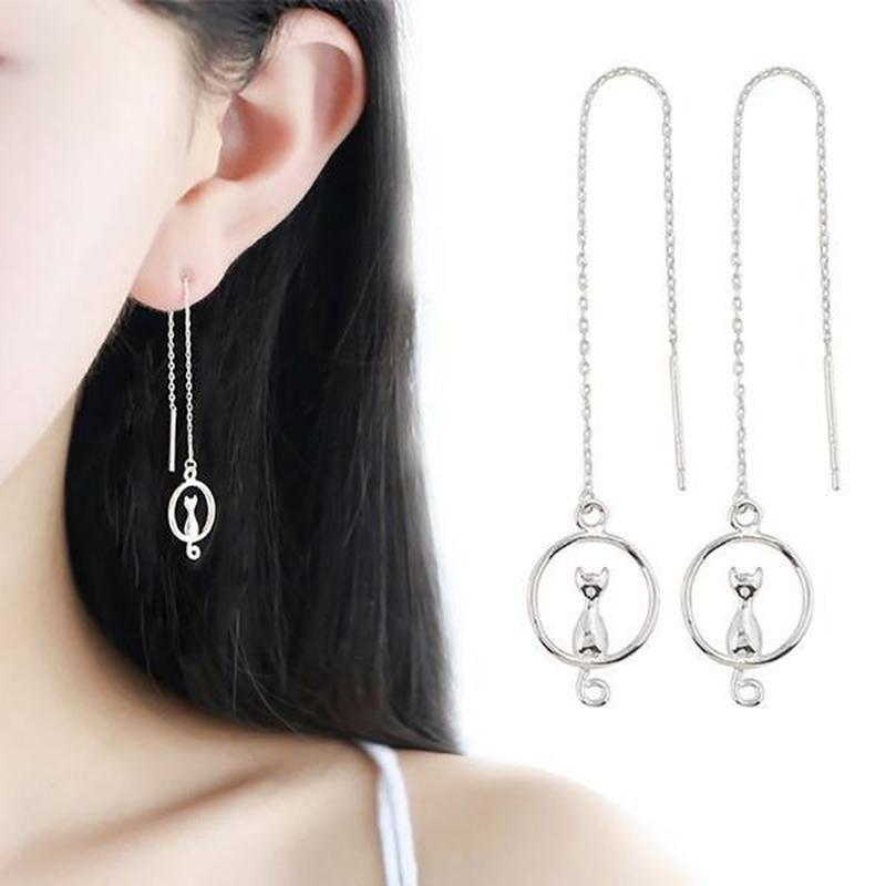 Cat On The Moon Earrings