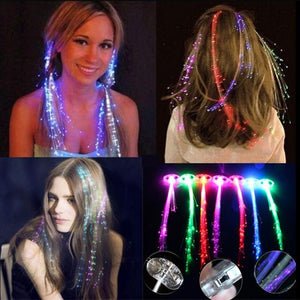 Butterfly led Hair Wig