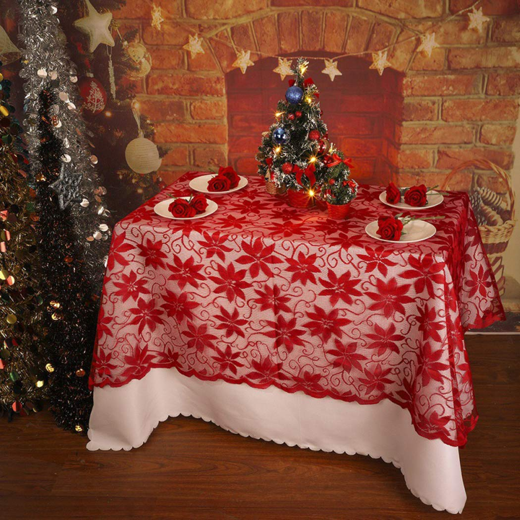 Tablecloths White Snowflake Elk Modern Christmas Table Cloths Cover