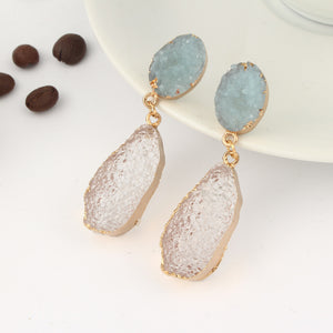 Chic Stone Druzy Resin Earrings