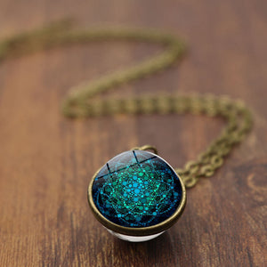 Glass Ball Pendant Necklace