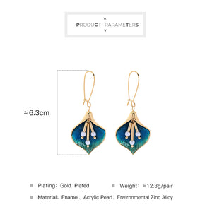 Geometric Enamel Acrylic Earrings