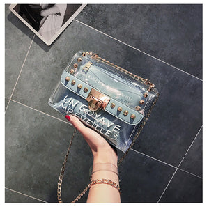 Sweet Printed Letter Square Phone bag