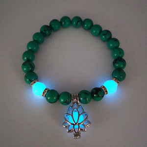 Natural Stones Luminous Lotus Bracelet