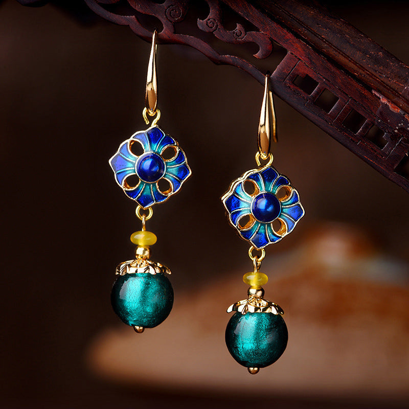 Cloisonne Ethnic Earrings