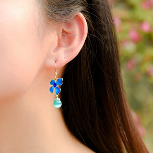 Opal dangle earrings