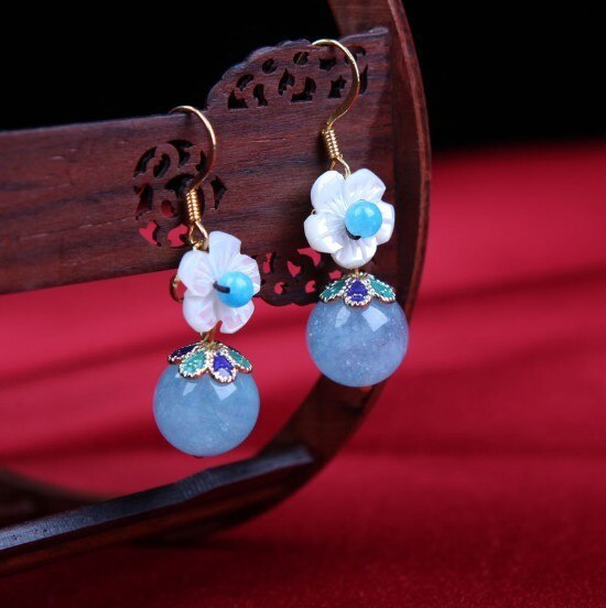Sea Blue Treasure Earrings