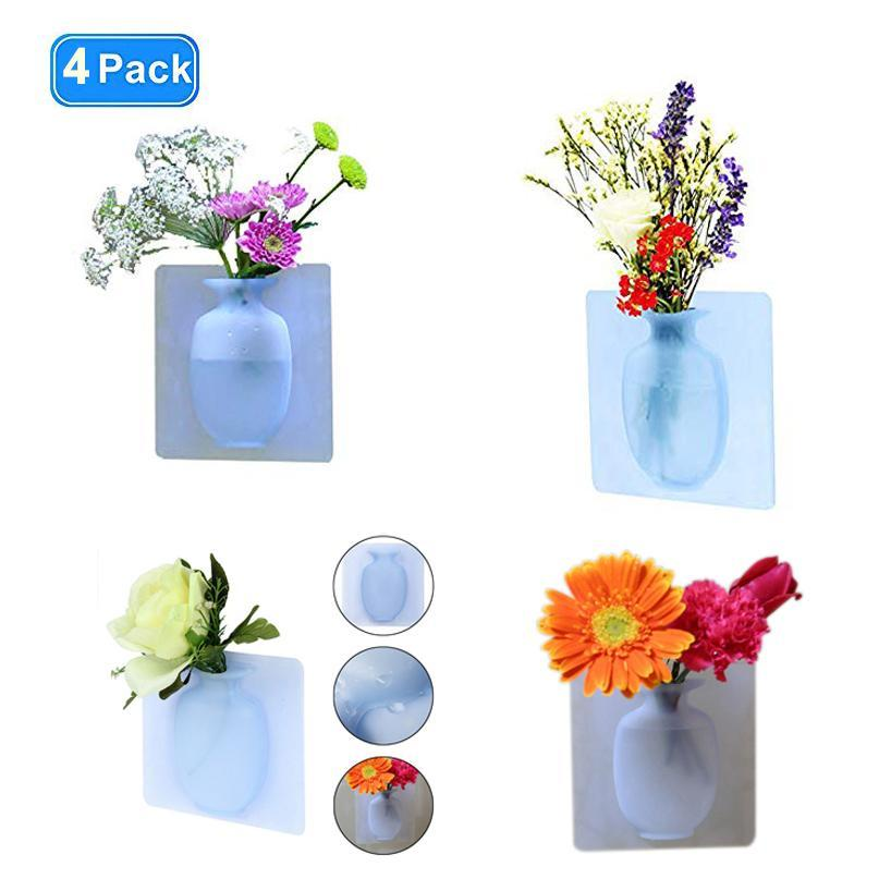 HOT-Coolnice Removable Silicone Wall Hanging Vase