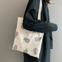 Load image into Gallery viewer, Canvas Pineapple Tote Bags