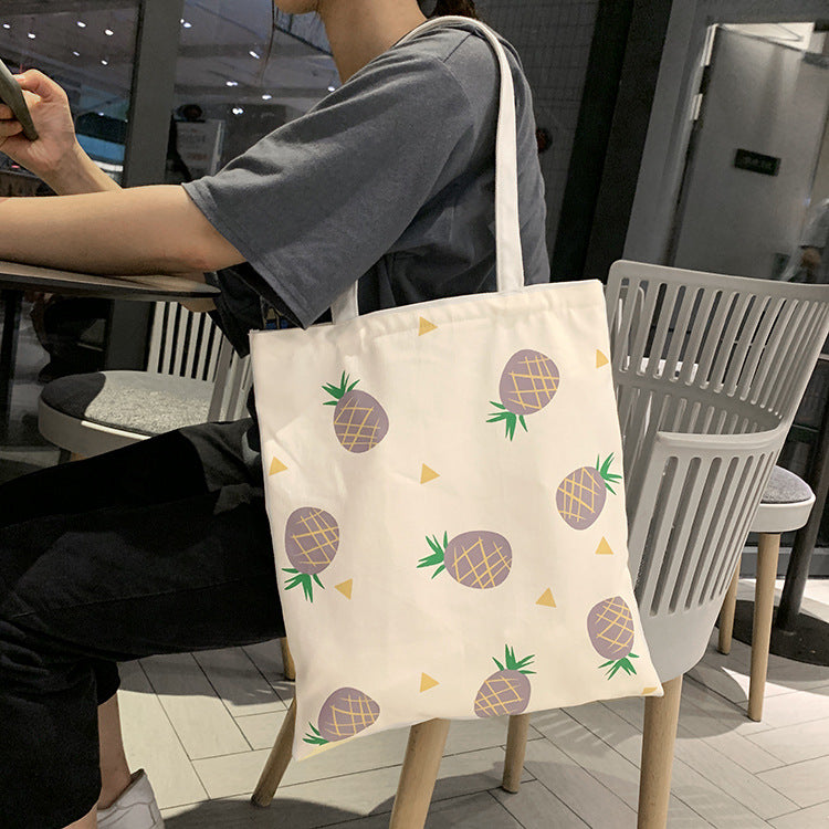 Canvas Pineapple Tote Bags