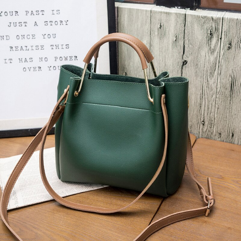 PU Leather Bucket Crossbody Bags