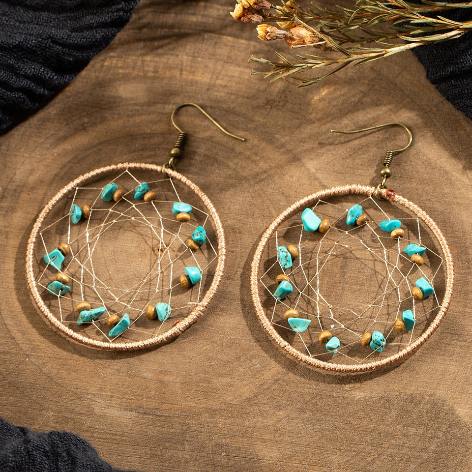 Vintage Net Round Earrings