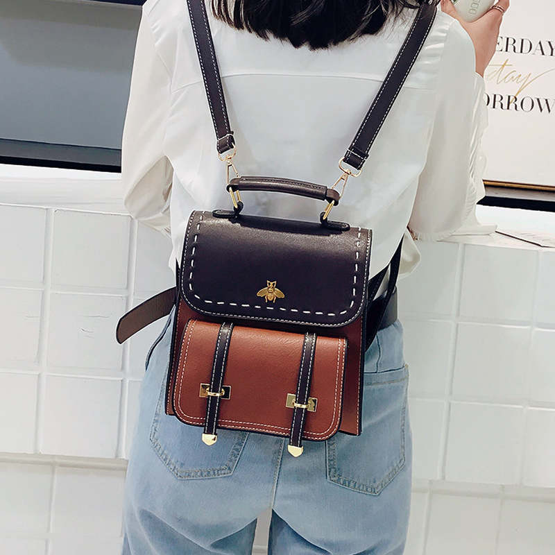 Simple Preppy Style Backpack