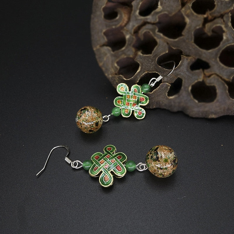 Glass Glazed Beads Earring