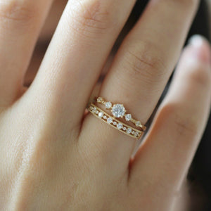 Simple Hollow Out Ring Set