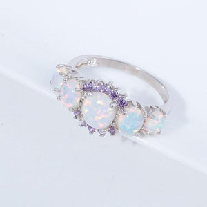 Purity - Fire Opal Garnet Ring