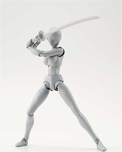 Female - Gray Body Kun Drawing Mannequin - For Illustrators & Artists