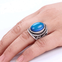 Load image into Gallery viewer, Vintage Bohemian Retro Color Changing Mood Ring