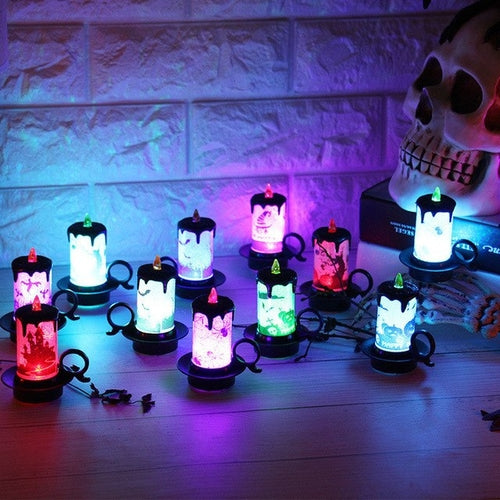 12 pcs Halloween Candle with LED Tea light Set