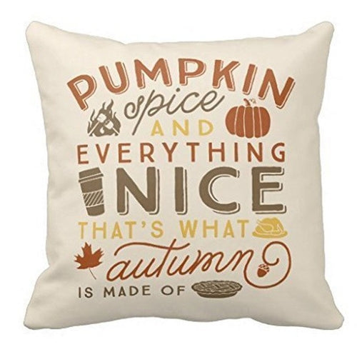 Halloween Pumpkin Spice Cotton Linen Pillow